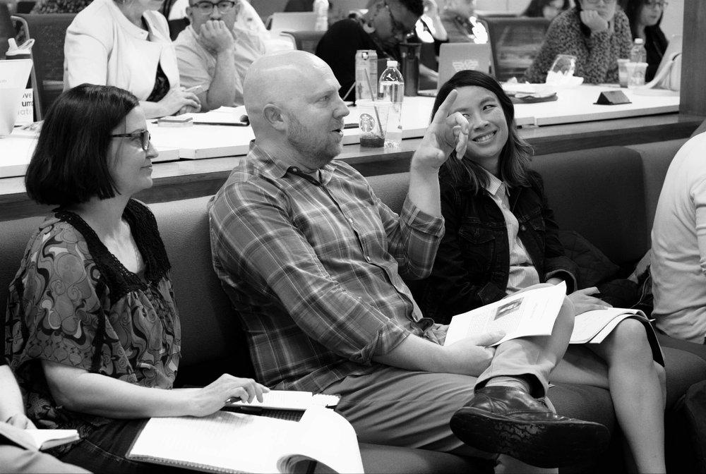 Script Anatomy Alumni Nadia Madden, Paul Ditty and April Shih