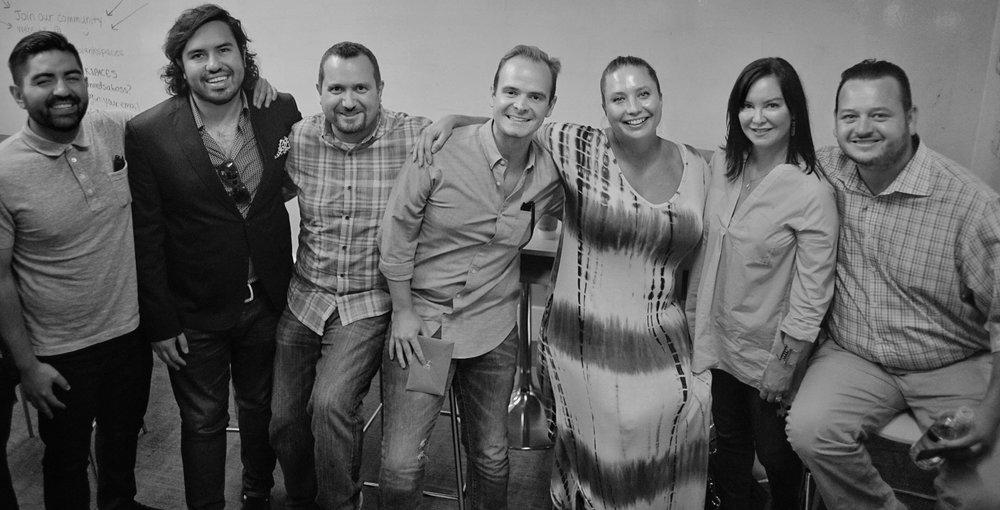 Jairo Alavarado (Circle of Confusion), Ray Jimenez (Zero Gravity), Nick Terry (Zero Gravity), Kevin Slack (The Cartel), Brandy Rivers (Industry Entertainment), Script Anatomy Founder Tawnya Bhattacharya, and Mikhail Nayfeld (Heroes & Villains Entertainment)