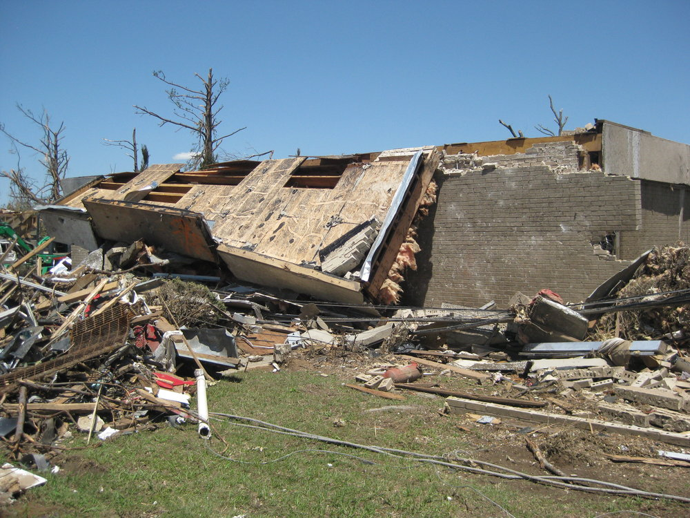 Cedar Crest Office Building after the Tornado