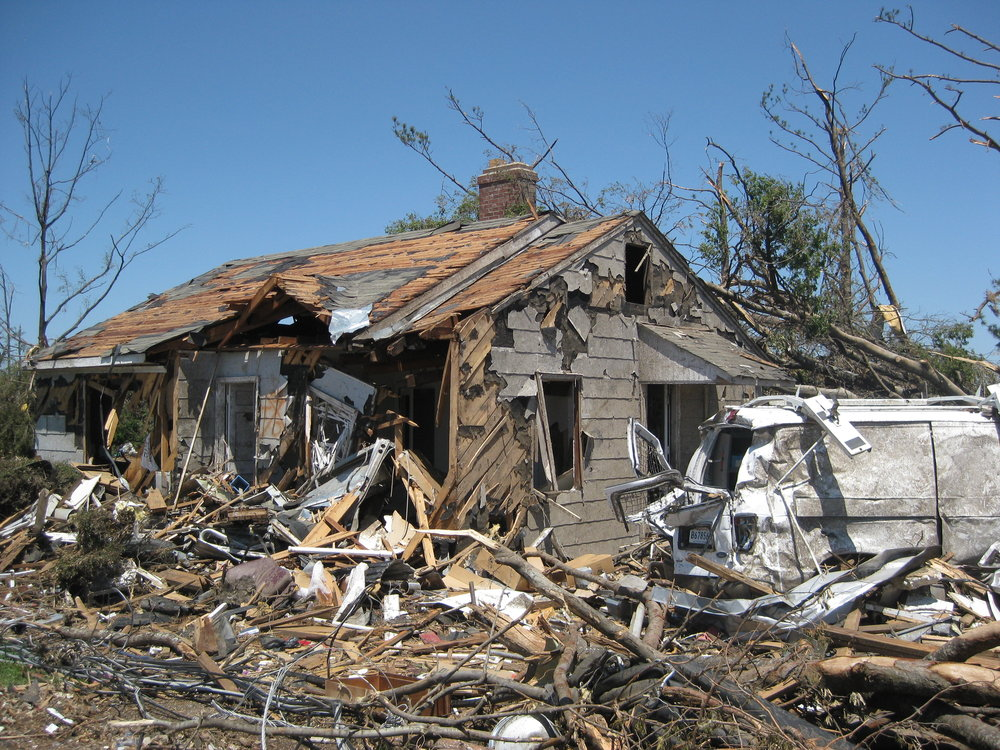 Demolished Cedar Crest property