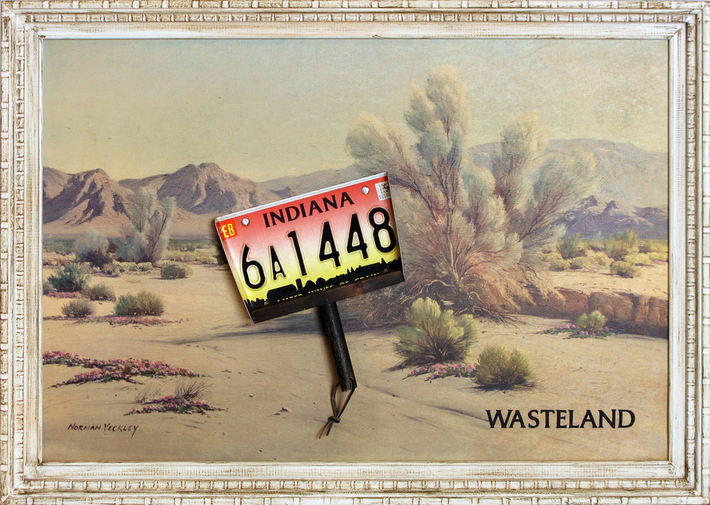 Alexis Smith  Wasteland , 2013 Mixed media 28 x 40 in. (71.1 x 101.6 cm) Courtesy of the artist
