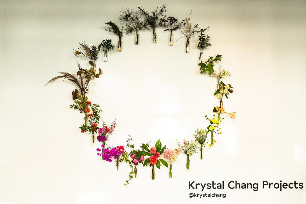 Floral installation by Krystal Chang Projects
