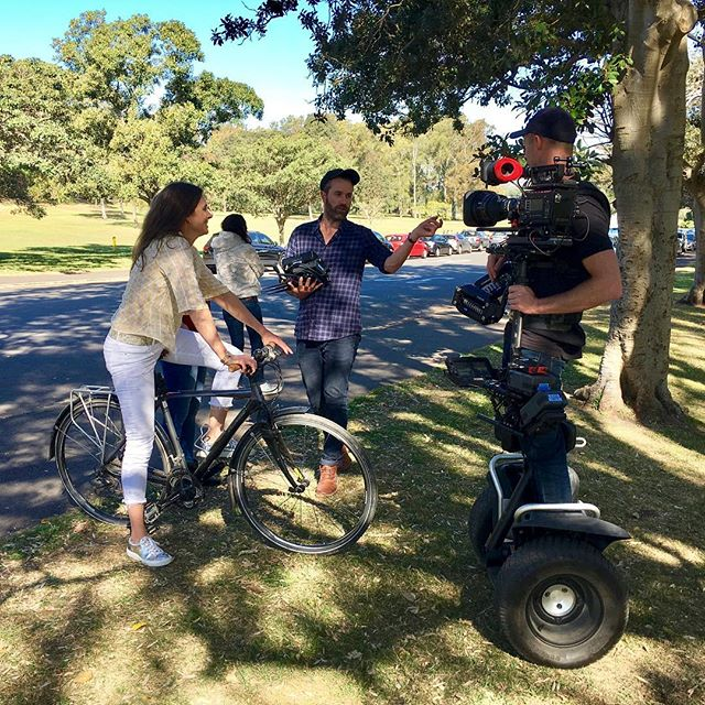 Segway, Stedicam and some core strength. @beerenberg, @tinyhunter, #samsumovideo, #stedicam, #sonyf5