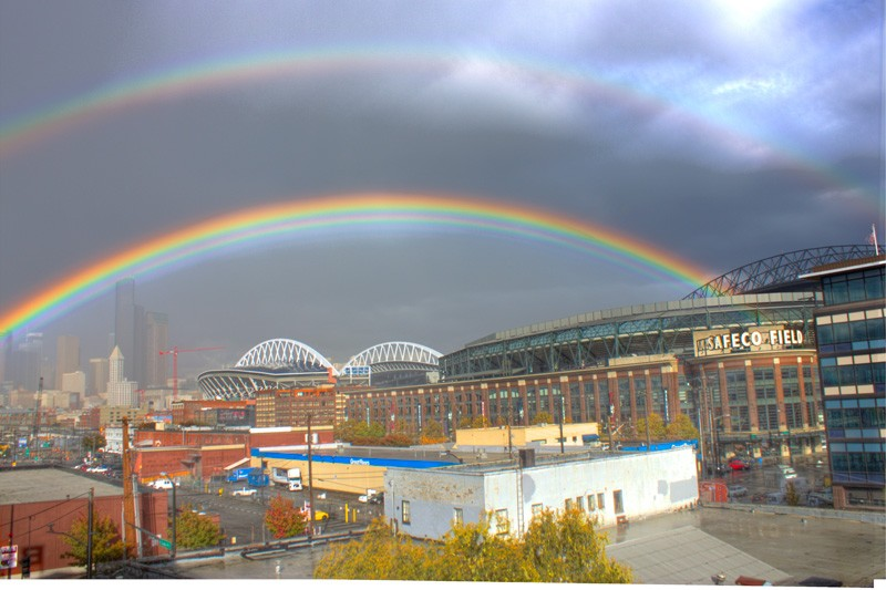 Rain + Sun = delight. Photo credit Komo News.