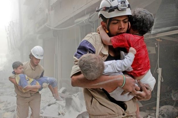 (White Helmets in Syria)