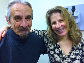 Patient Randy Rollins, shown here with Dr. Connie Serra of One Community Health, Hood River, Ore.
