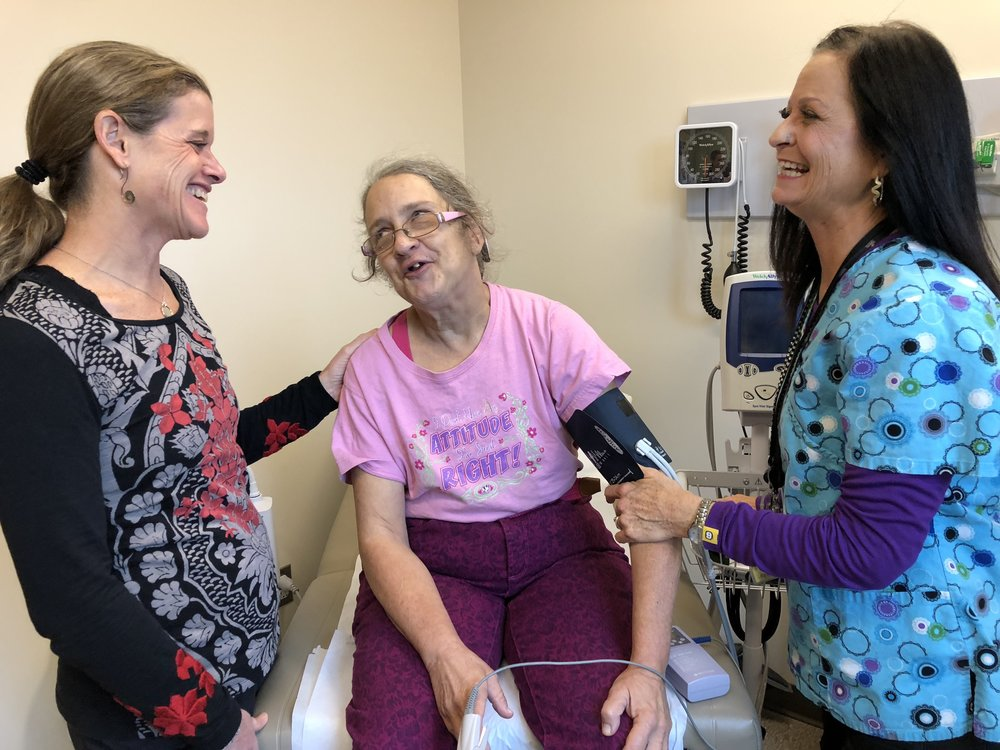"Rose Buchanan expresses her relief in having lowered her blood pressure in spite of ""White Coat Syndrome,"" or having a rise in blood pressure whenever she visits a health care facility."