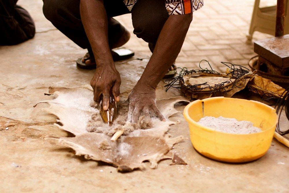 Djembe Skin  Ghana, 2014