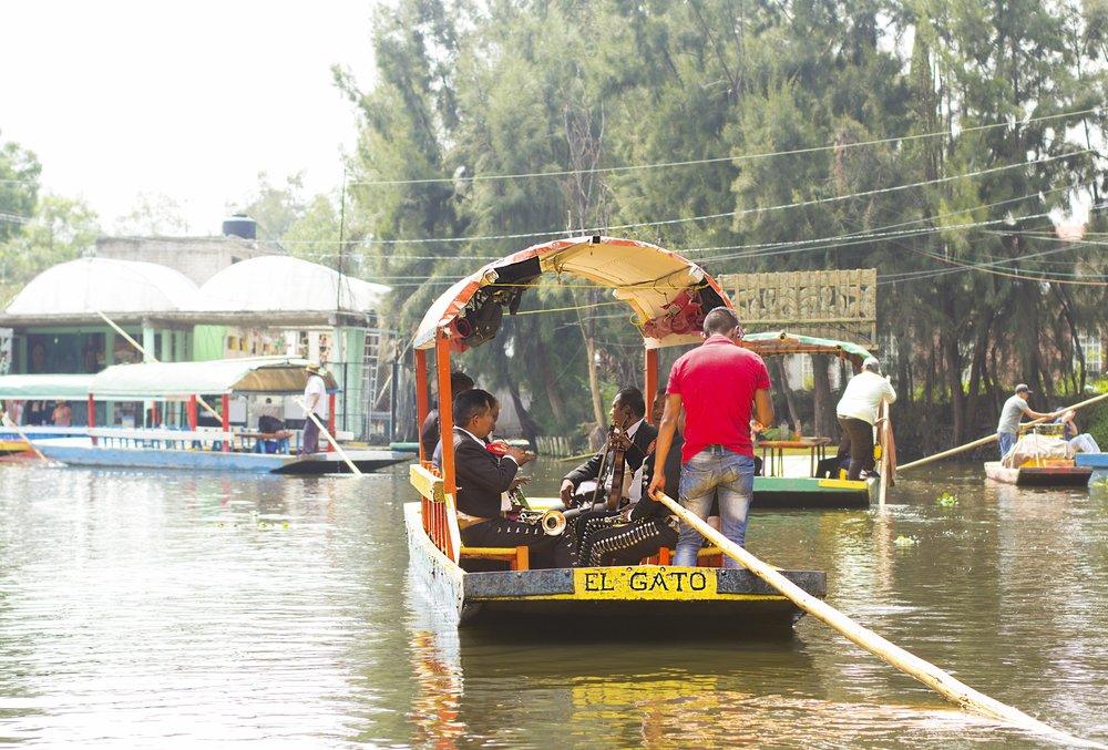 Mariachi on the River Cuidad de Mexico, 2018