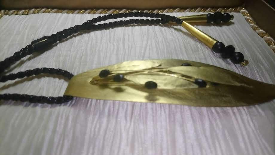 Olive Leaf Pendant Necklace -