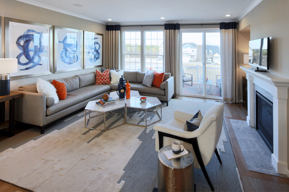 Interiors of townhouse in Embrey Mill for Miller & Smith