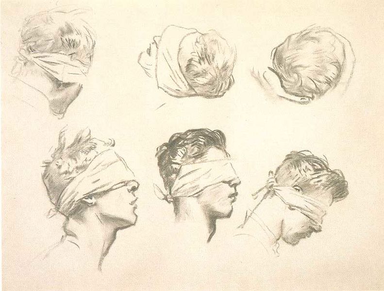 "John Singer Sargent,  Six Studies for ""Gassed""  (1918-19)"