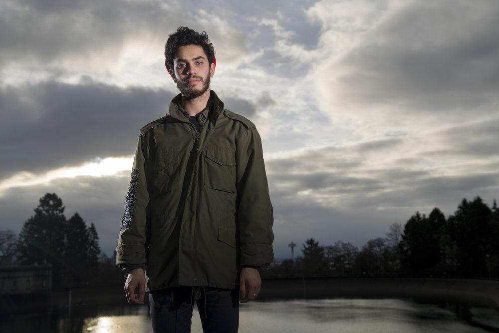 Juliana v. U.S. plaintiff Kiran, 21, in Seattle, WA where he attends college. Photo: Robin Loznak.