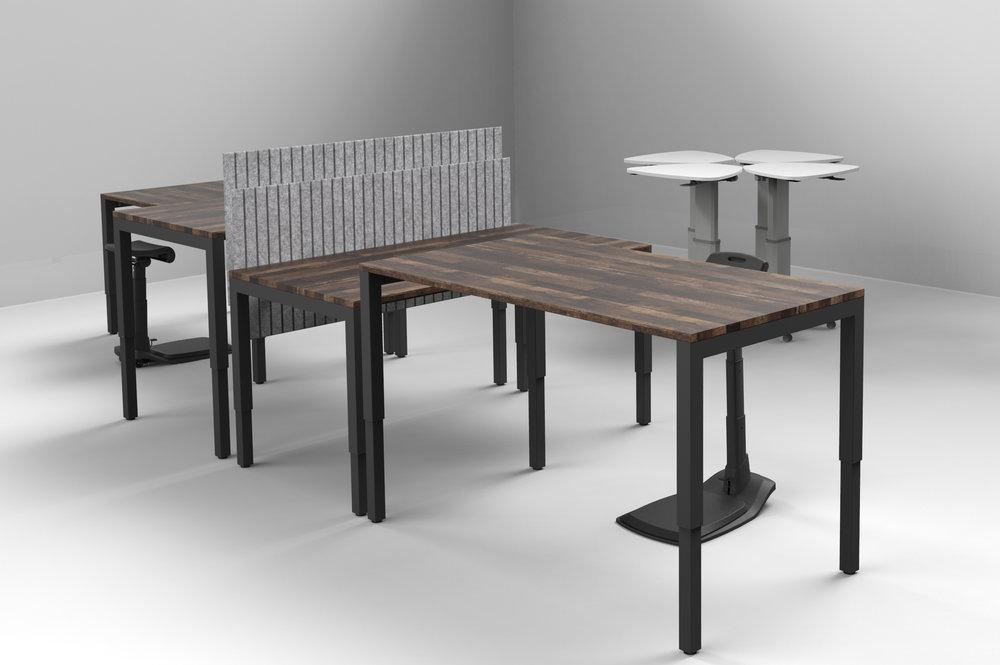 Standing Desks with Ergonomic Standing Desk Chair