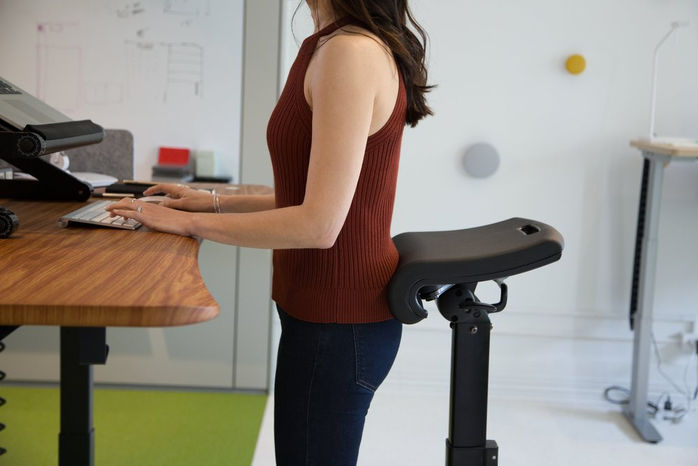 Standing Desk Chair Ergo Impact LeanRite Best Ergonomic
