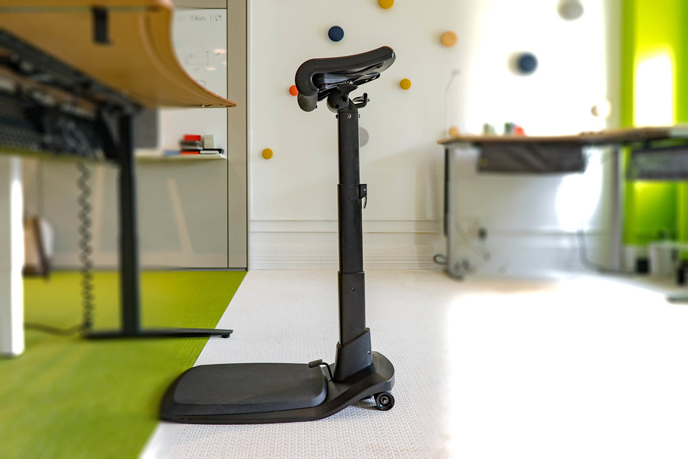 Meet the LeanRite Elite - the ergonomically designed standing desk chair that is built to encourage movement.