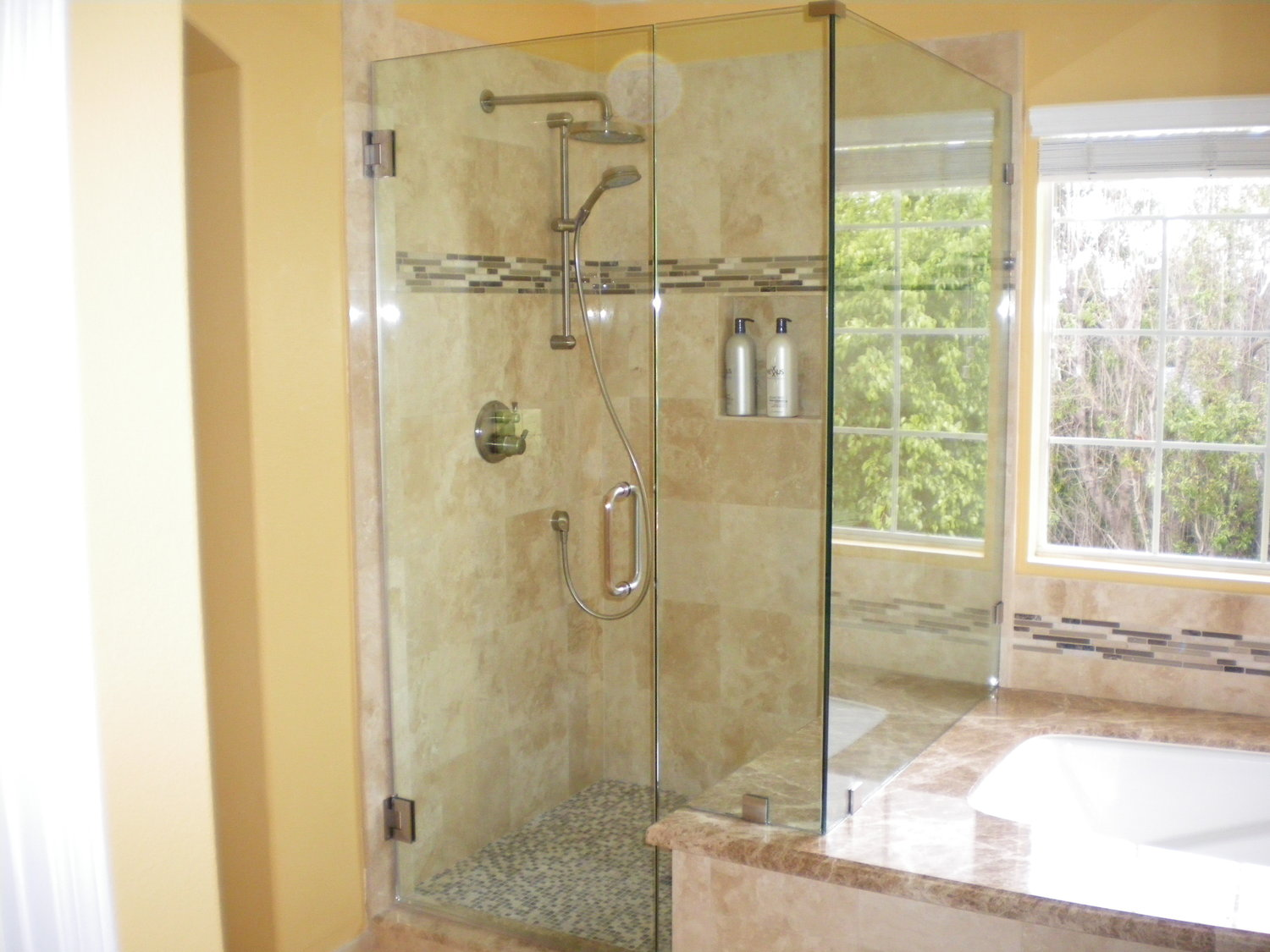 Shower Doors/Enclosures — Orange Mirror and Glass