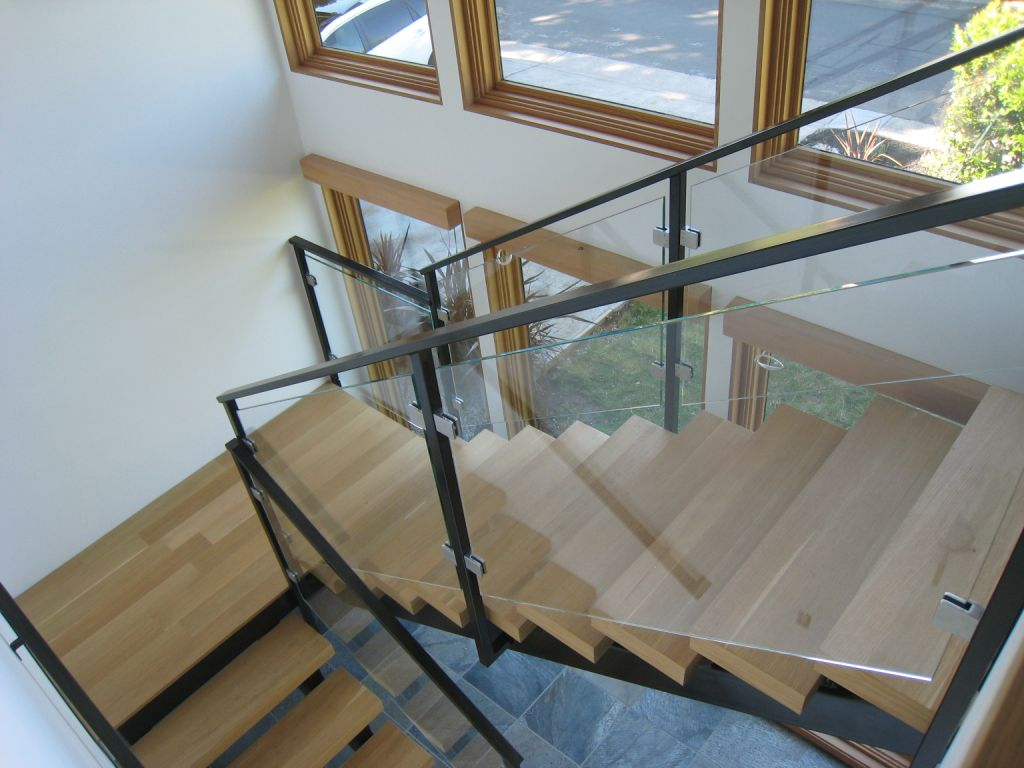 glass railing systems orange mirror and glass
