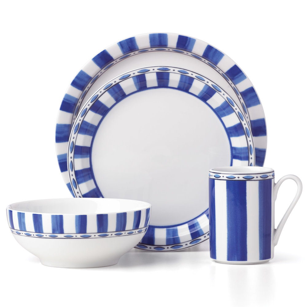 Dansk Parisian Blue Tablesetting