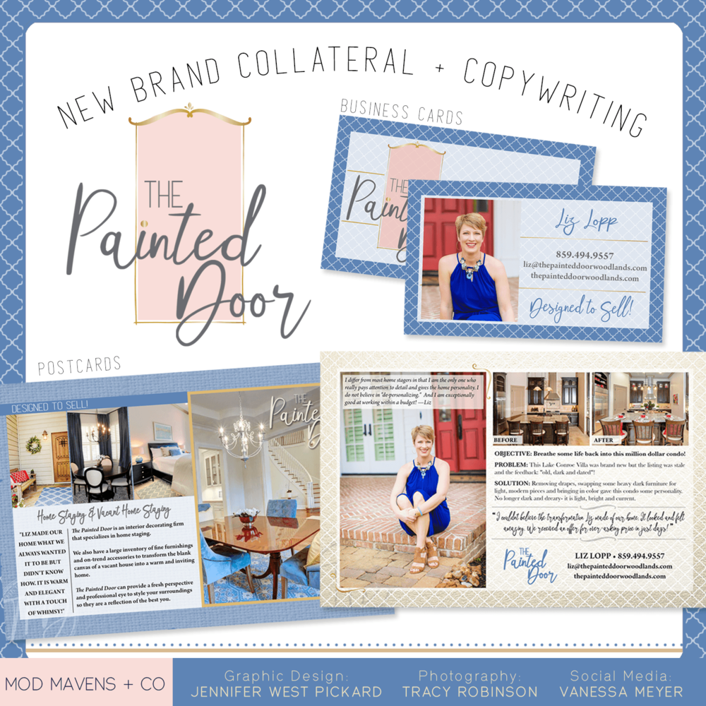 The Painted Door Brand Collateral || Mod Mavens + Co
