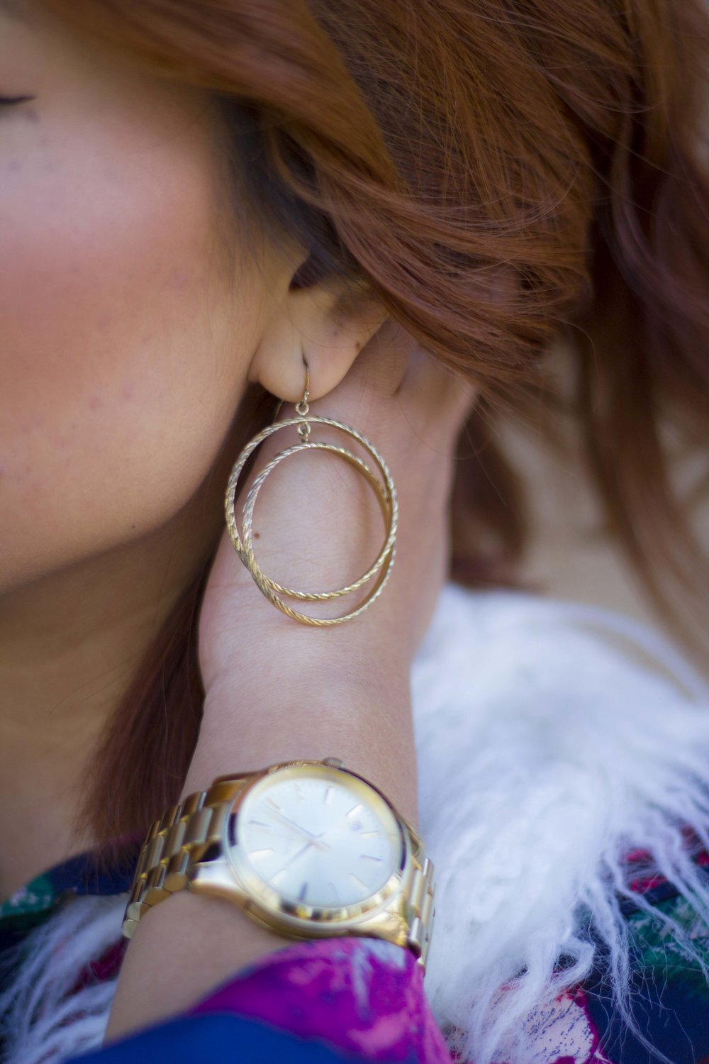 Gold Plaited Earrings