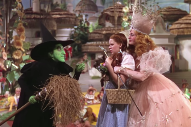 Looks like Dorothy made it over the rainbow, but not without catching the attention of a pair of Witches