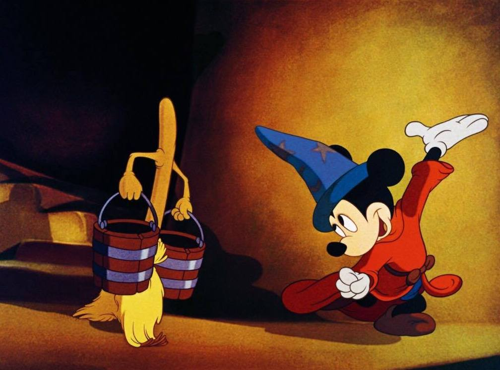 Mickey Mouse as The Sorcerer's Apprentice (Photo taken from IMDB)