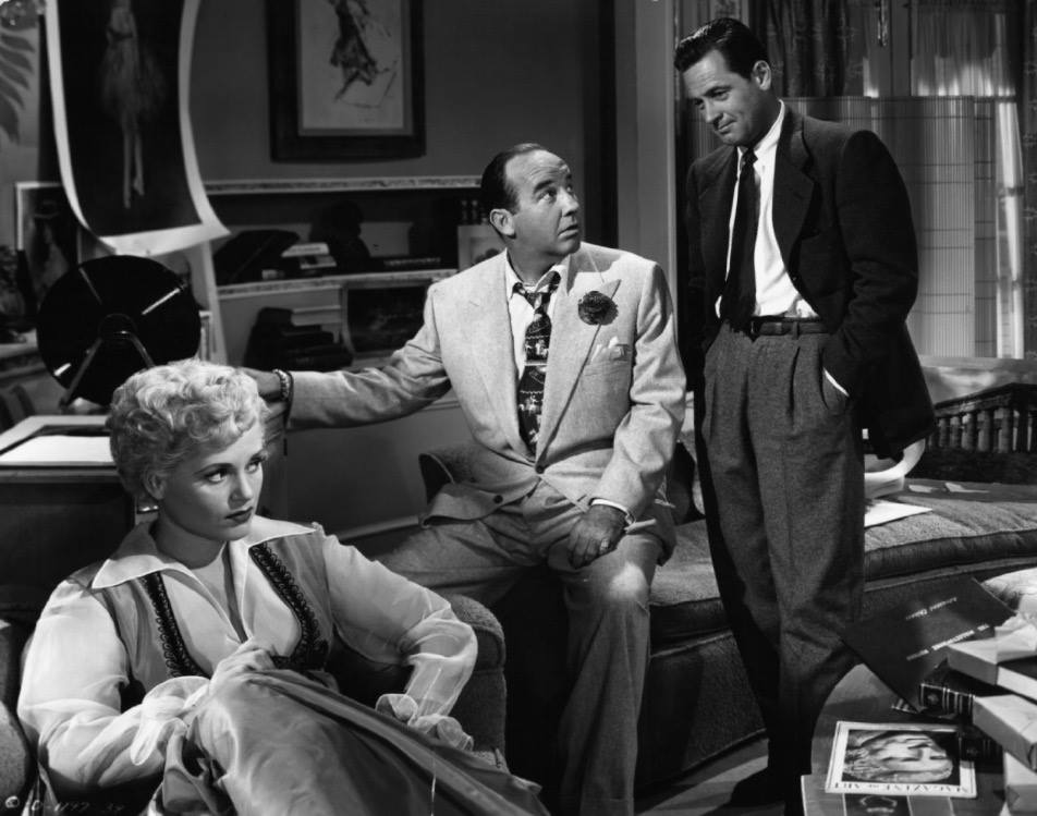Here's our Love Triangle, folks! From left to right: Billie (Holiday), Harry (Crawford), and Paul (Holden) (Photo from IMDB)