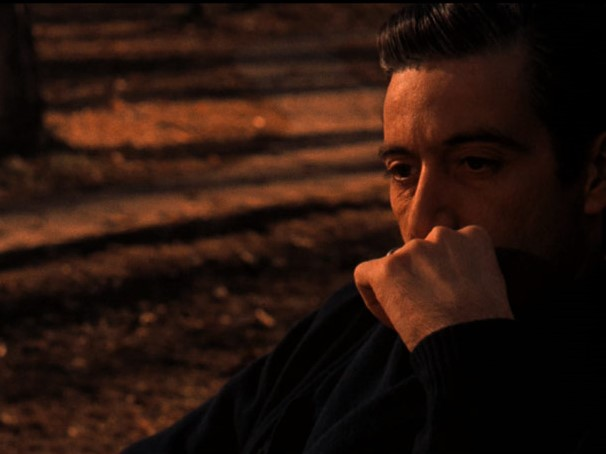 Michael Corleone (Al Pacino), alone at the end of the film. (Photo from IMDB)