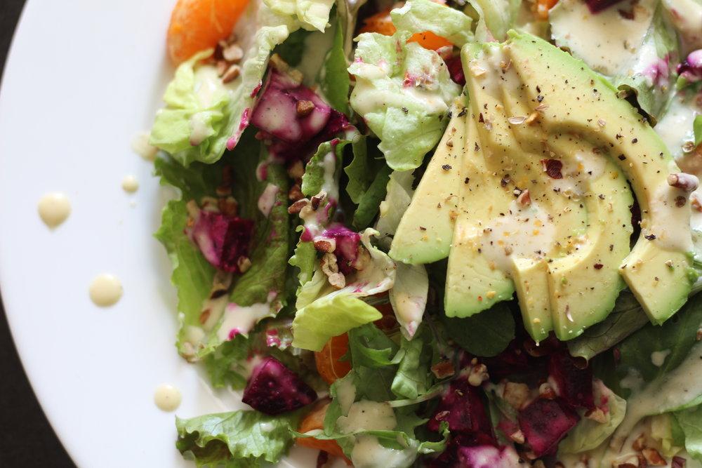 Beet Salad with Lemon Dijon Dressing
