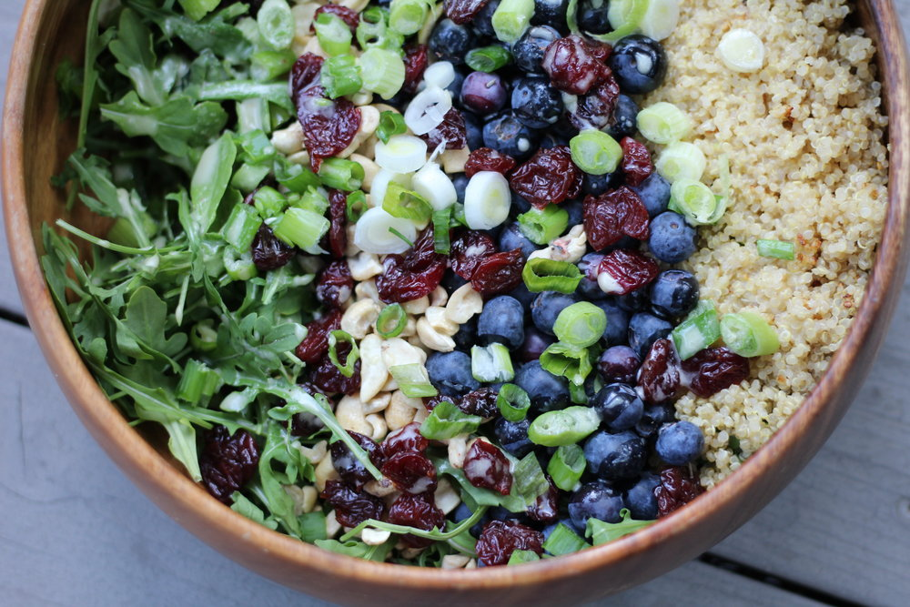 Blueberry Quinoa Salad -