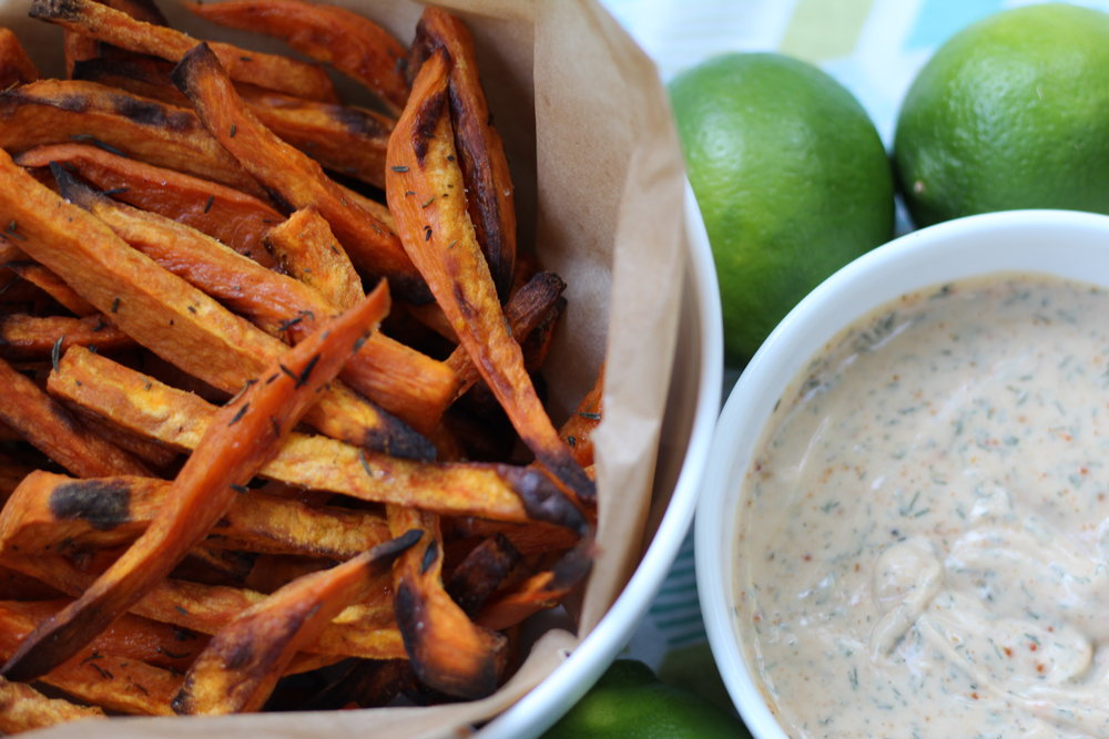 """Baked Sweet Potato Fries with """"Ranch"""" - by Jenna Garcia"""