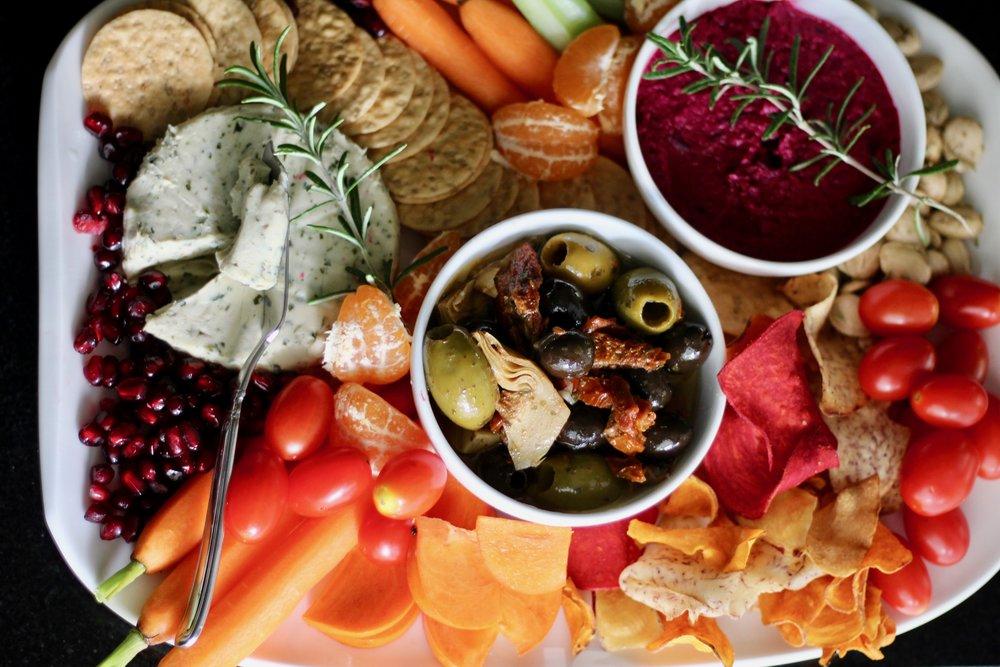 Holiday Appetizer Board - by Jenna Garcia