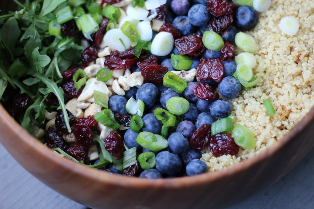 Blueberry Quinoa Salad - by Jenna Garcia
