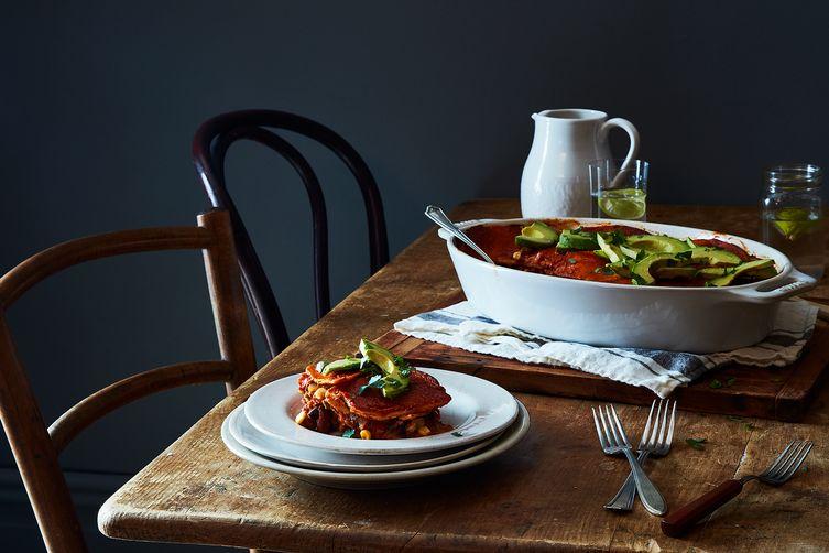 Vegan Enchilada Casserole  - by Gena Hamshaw