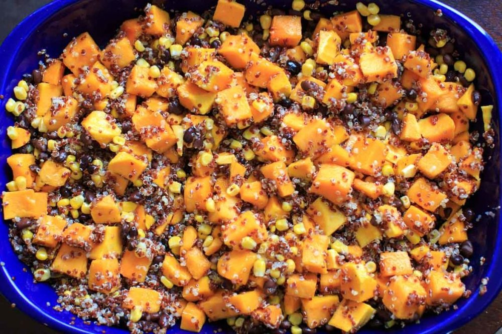 Butternut Squash Quinoa Casserole - by Kelly at Trial and Eater