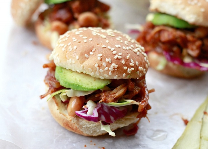 Slow Cooker Pulled Jackfruit Sandwiches - by Yummy Mummy Kitchen
