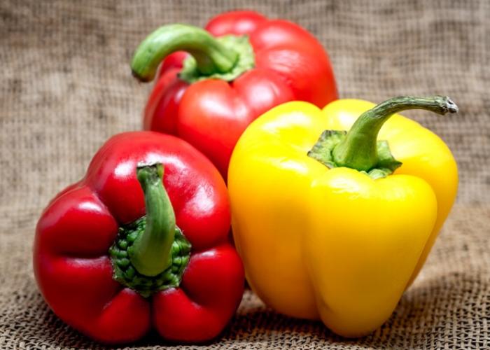 Vegetarian Crockpot Stuffed Bell Peppers - by Joy Shull