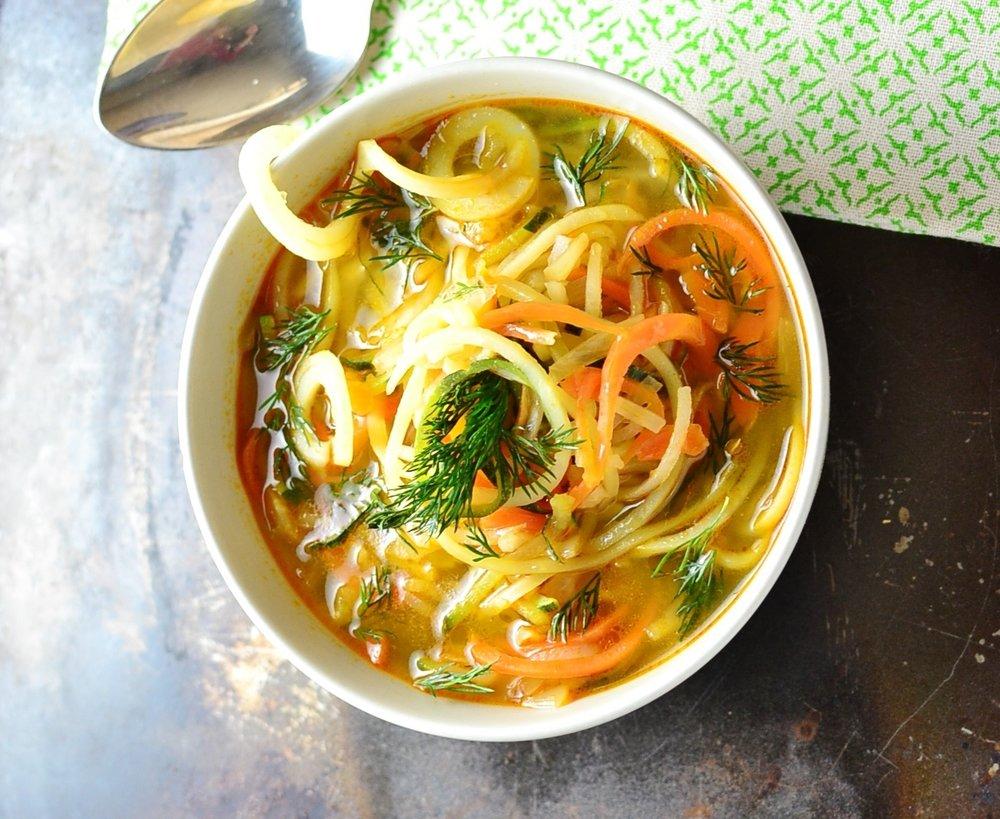 Spiralized Vegetable Soup - by Monika Dabrowski