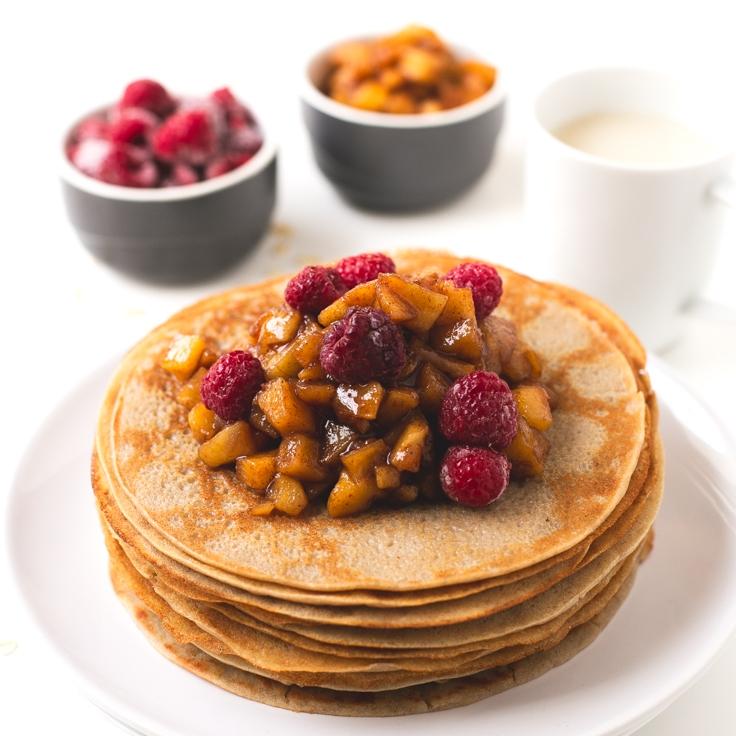 Vegan + Gluten-Free Crepes - by Simple Vegan Blog