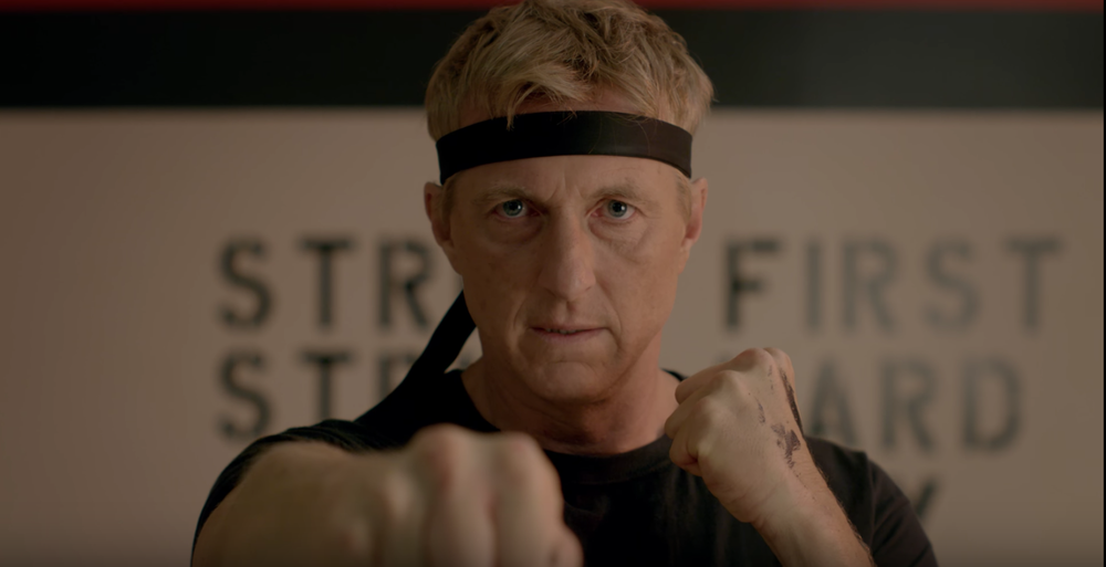 William Zabka reprises his role as Johnny Lawrence, 34 years after the original Karate Kid!