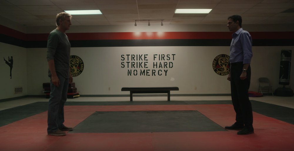 The rivalry lives on. Actor Ralph Macchio makes his return as Daniel LaRusso.