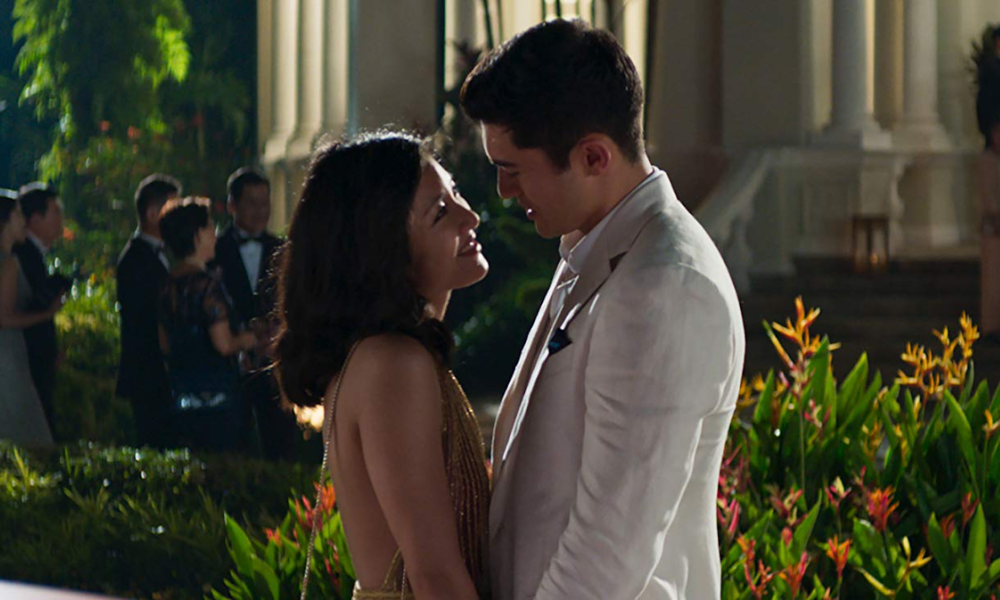 Rachel (Constance Wu) and Nick (Henry Golding) share a moment. Photo credit: IMDB