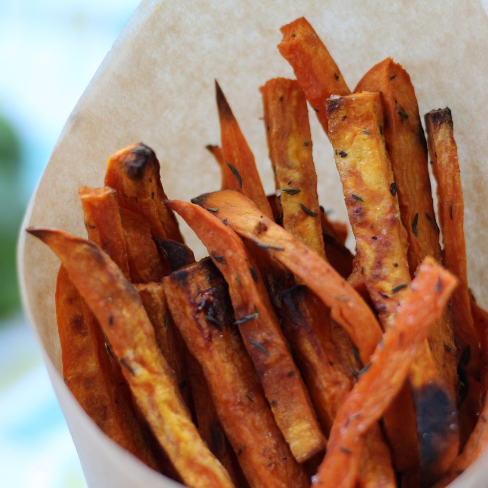 8. Don't Go Without These Yummy Sweet Potato Fries - If you are looking for a filling and healthy staple, look no further than these fantastic baked sweet potato fries! They are savory, hearty, and festive. You'll want to eat these when they are hot and crispy. If you decide to go with these sweet potato fries, you should really try making this yummy vegan ranch to go with it! You won't be disappointed.
