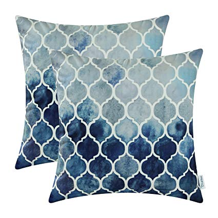 Hand Painted Pillow Covers - We love the geometric design of these hand painted pillow covers. Available in ten colors and four sizes, you are sure to find the perfect style.