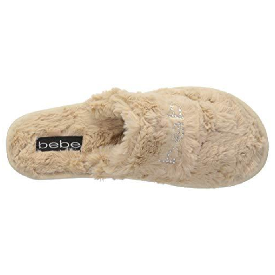 bebe Charee Slippers - These sophisticated slippers feature an ultra padded footbed and the most luxurious furry feel. Available in a variety of colors and sizes.