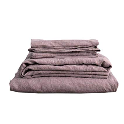 Luxurious French Linen Sheet Set - Let your sleep be luxurious with this 100% linen sheet set. Available in multiple sizes and colors, this set will rejuvenate your bedding.