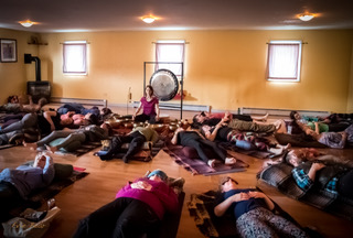Evie bear sacred sound open space healing meditation concert anchorage yoga open space