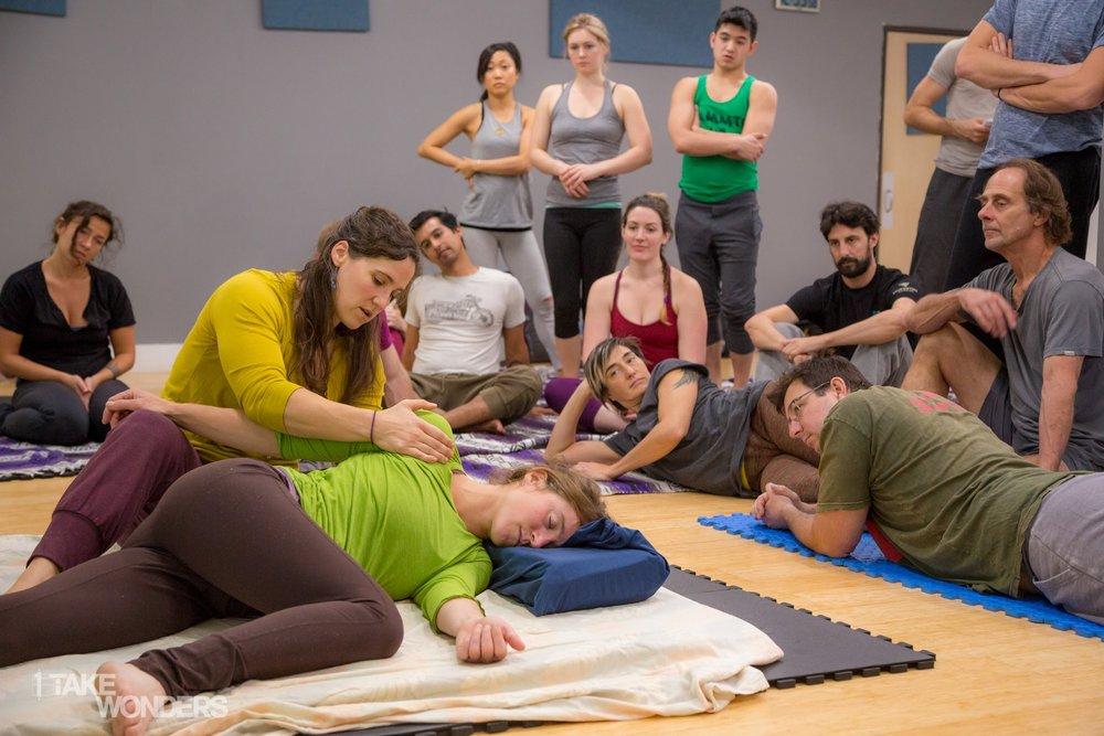 hand stand yoga sarah yovovich thai bodywork open space anchorage yoga alaska workshop immersion