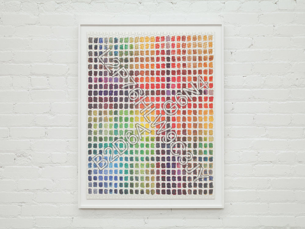 """This Painstaking 2,000 Piece Wifi Password Jigsaw Puzzle Will Likey Keep    Your AirBNB Guests Busy Long Enought to Avoid Stealing Your Possessions    24""""x48""""    framed uv print print on premium composition board puzzle    2017"""